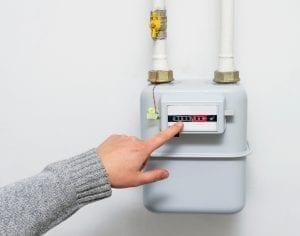 Precio de alquiler mensual de los contadores de gas