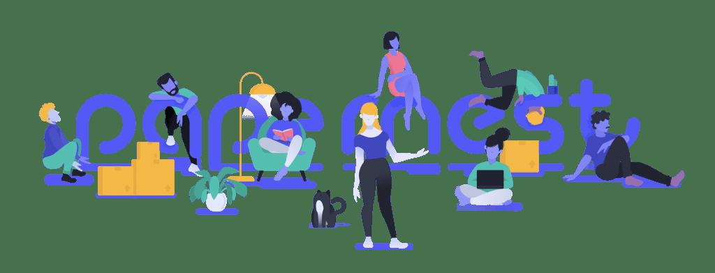 Logo de papernest con personas
